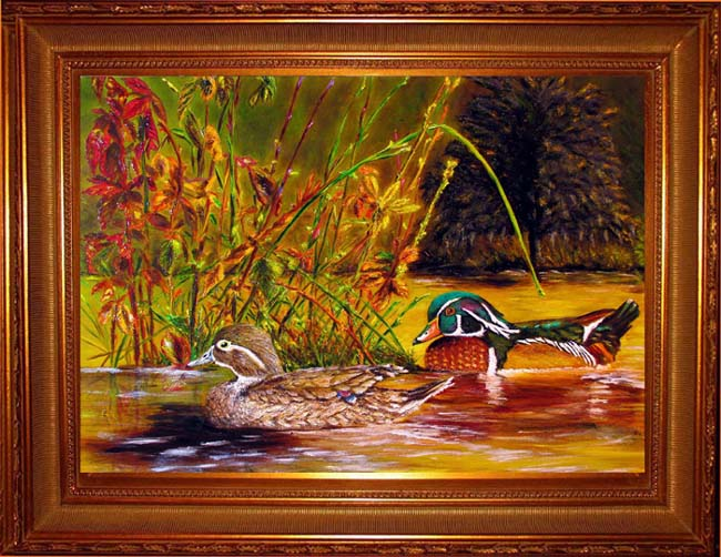 Autumn Wood Ducks Giclee