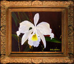 Carolyn's Orchid Print on Canvas
