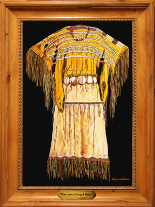Cheyenne Fringed Dress Giclee