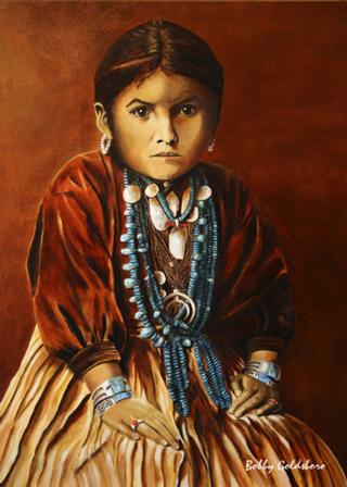 Little Navajo Girl Greeting Card