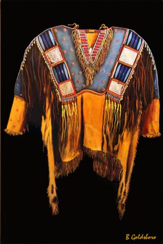 Plains Indian Shirt II Greeting Card
