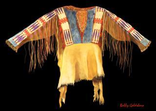 Plains Indian Shirt III Greeting Card