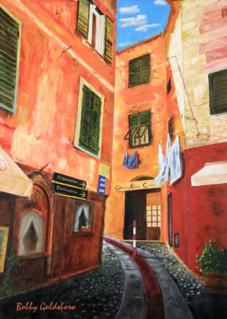 Portofino Street Greeting Card