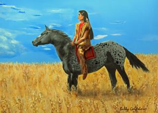 Lakota Dreamer Greeting Card