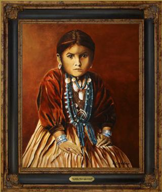 Little Navajo Girl Giclee