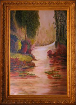 Misty River Morning Giclee