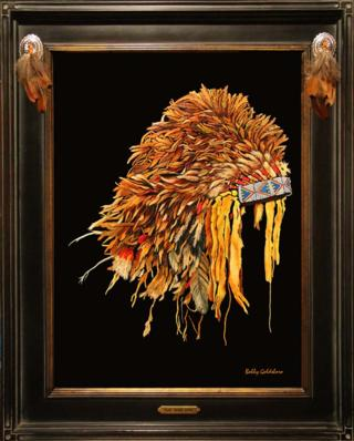 Plains Feather Bonnet Giclee