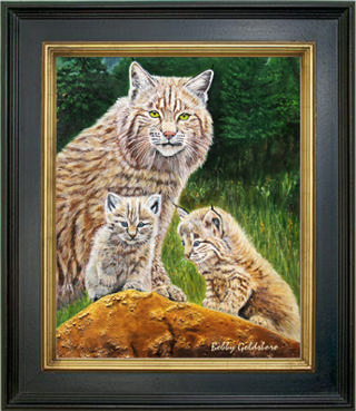 Three Rockin' Cats Closeup Giclee