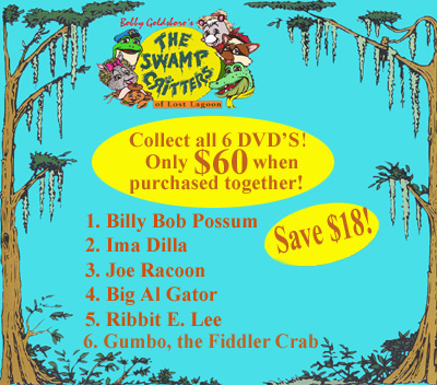 Swamp Critters DVD Collection___6 DVD's Featuring Each Swamp Critter