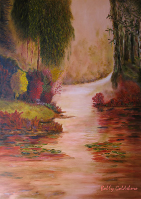 Misty River Morning Greeting Card