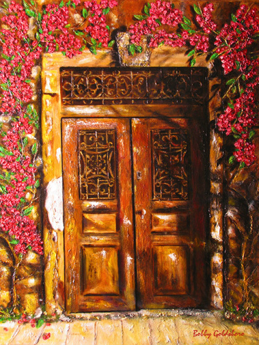 Tuscan Doorway Greeting Cards