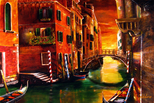 Venice Morning Greeting Cards