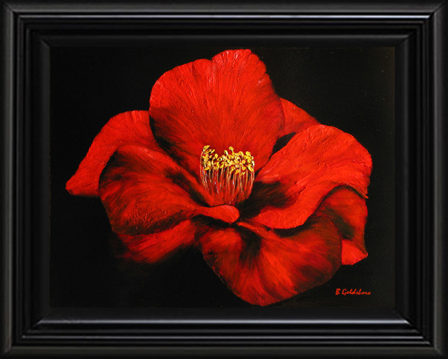 Red Camellia Giclee Print