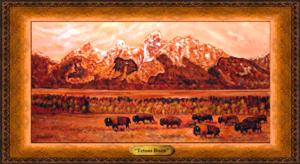 Tetons Bison*SOLD